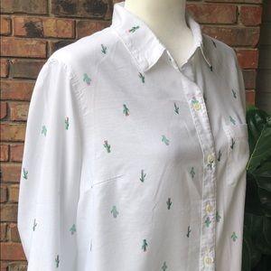Old Navy  Cactus Print Shirt
